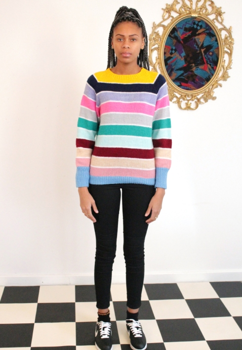 CANDY STRIPE JUMPER FRONT
